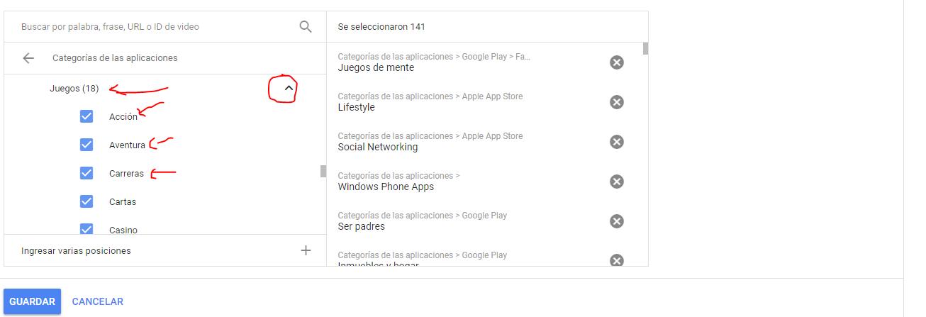 excluir apps anuncios display